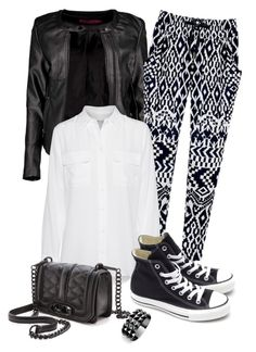 """""""Converse Sneaker"""" by cerry71 ❤ liked on Polyvore featuring Boohoo, Equipment, Rebecca Minkoff, Converse and Waterford"""