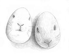 Måla påskägg som kanin- eller haransikten
