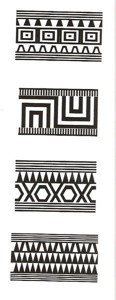 Moldes Etnicos. | Creaciones Claudia Tribal Pattern Art, Aztec Art, Vector Pattern, Pattern Design, Fabric Patterns, Print Patterns, Art Chicano, Paper Bead Jewelry, Pattern Library