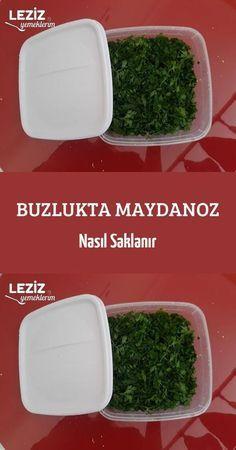 Buzlukta Maydanoz Nasıl Saklanır Pasta, Turkish Recipes, Kitchen Hacks, Parsley, Food Storage, Food And Drink, Yummy Food, Herbs, Organic
