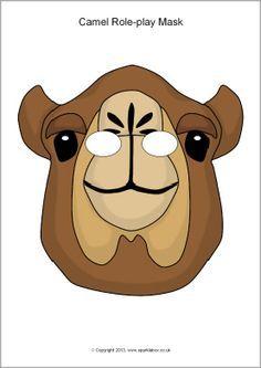 Great website for all kinds of animal masks.Camel role-play masks (SB10141) - SparkleBox