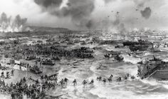June D-Day On this day in the D-Day landings began on the beaches of Normandy as part of the Allied 'Operation Overlord'. The largest amphibious military operation in history, the. European History, World History, American History, Ancient History, D Day Normandy, Normandy Beach, Normandy France, Normandy Ww2, D Day Facts