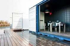 Belgium-based hospitality company Sleeping Around has rolled out a refreshing new hotel experience with their pop-up shipping container hotel. Container Hotel, Cargo Container, Container House Design, Container Buildings, Container Architecture, Pop Up, Shipping Container Homes, Shipping Containers, London House