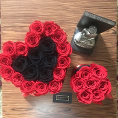 Red Rosa, Flower Boxes, Flowers, Bouquet, Romantic, Floral, Nature, Handmade Boxes, Red Roses
