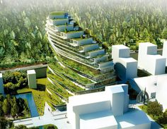 Hanging gardens and vertical farming