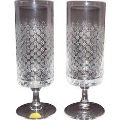 2 vintage rosenthal motif crystal water goblets romance i stem - Water Goblets