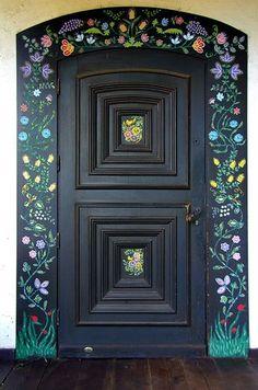 Door with Polish Folk Decoration by Elisabeth Fazel on 500px