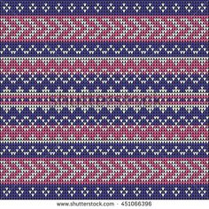 Fair Pattern sweater design on the wool knitted texture. Seamless Knitting blue Ornament