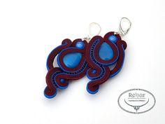 Soutache earrings Dione by RebarJewelry on Etsy