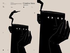 Creative juice designed by Rokas Aleliunas. Connect with them on Dribbble; the global community for designers and creative professionals. Minimalist Graphic Design, Graphic Design Posters, Graphic Design Typography, Simple Illustration, Graphic Design Illustration, Aesthetic Tattoo, Poetry Art, Web Design, Smart Art