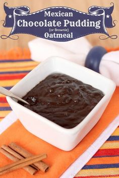 Mexican Chocolate Pudding (or Brownie) Oatmeal | cupcakesandkalechips.com | #breakfast #glutenfree #vegan