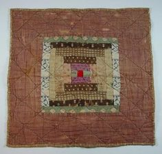 Love this antique piece! Old Quilts, Amish Quilts, Antique Quilts, Scrappy Quilts, Small Quilts, Vintage Quilts, Crib Quilts, Log Cabin Quilt Pattern, Log Cabin Quilts