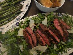 Steak on Arugula with Shaved Parmesan from Mom's Kitchen Handbook