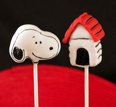 Snoopy with House Cake Pops
