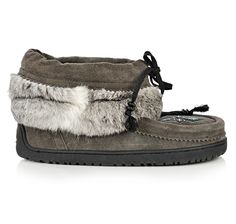 Keewatin Moccasin Charcoal $149  Rosey's Trading Post   Curve Lake http://roseystradingpost.com