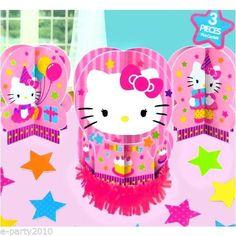 23pc Hello Kitty Birthday Table Decorating Kit Centerpiece Party Supplies | eBay