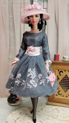 218 Fashion for Silkstone, Poppy and Victoire Barbie Gowns, Doll Clothes Barbie, Barbie Dress, Fashion Dolls, Girl Fashion, Fashion Outfits, Clothing Patterns, Dress Patterns, Barbie Bridal