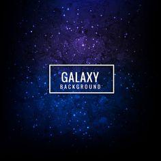 Красочный фон галактики Бесплатные векторы