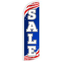 Sale Patriotic 2-Sided Swooper Flag