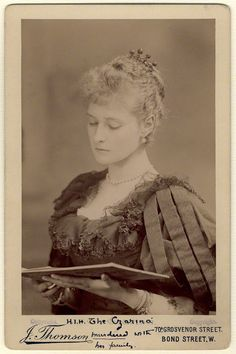 Alexandra, Empress of Russia (née Princess Alix of Hesse and by Rhine, granddaughter of Queen Victoria)  By John Thomson