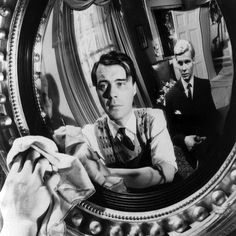 49 best Brit films of all time. The Servant Directed by Joseph Losey and starring Dirk Bogarde, Sarah Miles and James Fox. I LOVE British films! Great Films, Good Movies, 60s Films, Joseph, Film Images, Film Stills, Classic Movies, All About Time, British