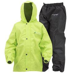 Frogg Toggs Youth Polly Woggs Lightweight Rain Suit - Green/Black, L, Kids Unisex, Size: Large Rain Pants, Rain Suit, Rain Jacket, Weather Day, Wet Weather, Rain Gear, Raincoats For Women, Snug Fit, Windbreaker