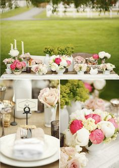 Sweet and romantic table setting