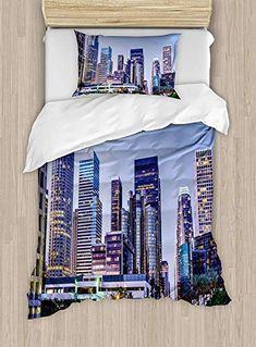 London Quilted Bedspread /& Pillow Shams Set Famous Big Ben Sketchy Print