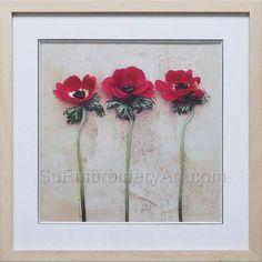 Hand Stitching, Peonies, Embroidery, Silk, Artwork, Flowers, Painting, Needlepoint, Work Of Art