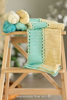 Expression Fiber Arts, Inc. - Ocean-Inspired Crochet Baby Blanket, $0.00 (http://www.expressionfiberarts.com/products/ocean-inspired-crochet-baby-blanket.html)