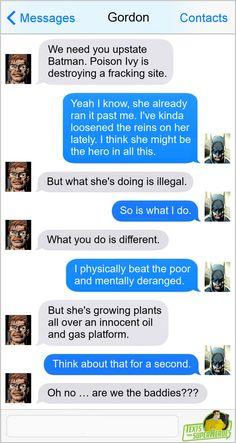 Texts From Superheroes Marvel Funny, Marvel Memes, Marvel Dc Comics, Funny Comics, Text Memes, Dc Memes, Geeks, Superhero Texts, Batman Family