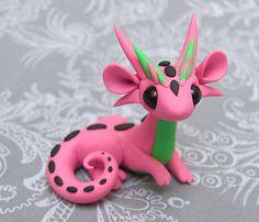 Pink and Green Scrap Dragon