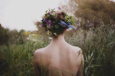 flowers in her hair, flowers everywhere
