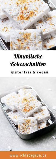Vegane Kokosschnitten bzw. Kokosdessert glutenfrei - lecker und einfach!