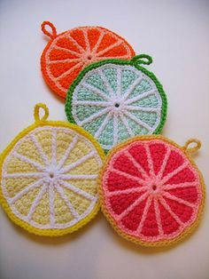 citrus potholders | Flickr - Photo Sharing!