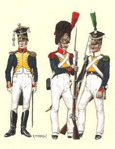 Duchy of Warsaw 1810 Infantry officer, grenadier and voltiger