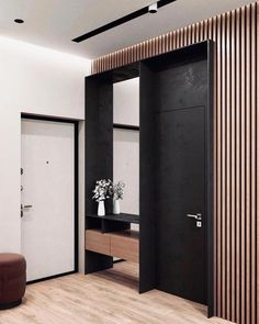 Discover ideas about Design Entrée — Home Decor Ideas Arch Interior, Home Interior Design, Interior Architecture, Interior And Exterior, Flur Design, Front Rooms, Dark Interiors, Hallway Decorating, Minimalist Interior
