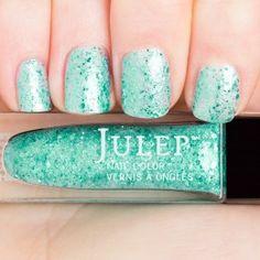 Julep Tania- Multdimensional mermaid teal glitter