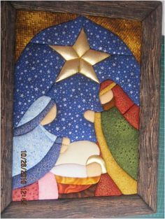 best ideas about Patchwork Christmas Patchwork, Christmas Sewing, Christmas Nativity, Felt Christmas, Christmas Projects, Holiday Crafts, Christmas Time, Christmas Ornaments, Church Banners