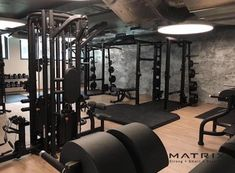 Home gym design interior floors Ideas Home Gym Garage, Gym Room At Home, Home Gym Decor, Basement Gym, Basement Remodeling, Fitness Design, Basement Finishing Systems, Dream Gym, Gym Interior
