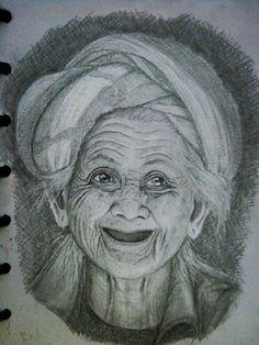 Balinese woman. graphite.