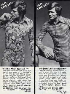 Mens body suits, bring em back!