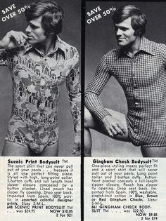 Mens body suits, bring em back!