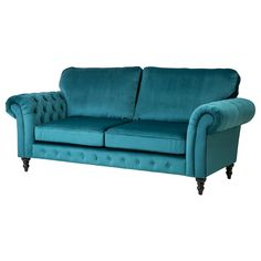 Buy sofas to create the perfect solution for your living room. We have sofas available in different materials, colours and styles to fit any room. Settee Sofa, Velvet Armchair, Blue Armchair, Living Room Sofa, Living Room Furniture, Bathroom Furniture, Dining Room, Teal Sofa, Buy Sofa