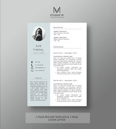 Resume and Cover letter template   Professional Microsoft Word ...