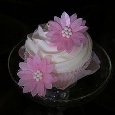 24 Gerbera Daises PINK Edible Wafer Paper Flower by SweetDejaVu, $62.40
