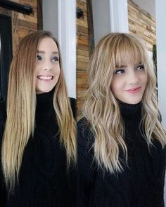 The big, big, bang simply stunning transformation by hairbylexidawn who used redken on this lewk For a chance to be featured Hairstyles With Bangs, Pretty Hairstyles, Full Fringe Hairstyles, Blonde Hair With Bangs, Blunt Hair, How To Cut Your Own Hair, Hair Transformation, Grunge Hair, How To Cut Bangs
