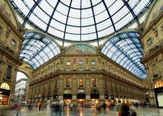 Milan - Galleria Vittorio Emanuele II  (just your typical mall) ha!