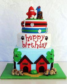 beautiful dog cake