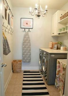Love this simple, normal size laundry room for those of us who don't have room (or money) for the big luxurious ones.
